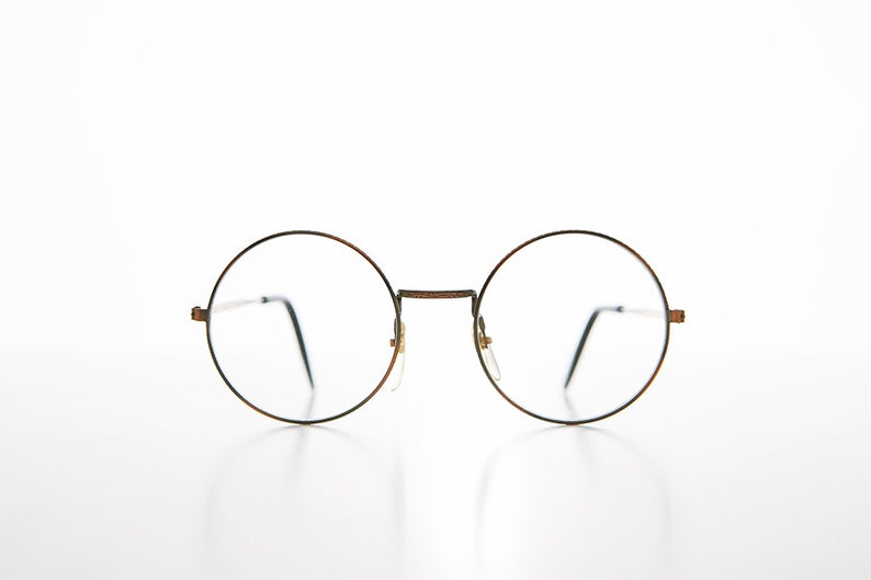 2b83219ca6 Small Round John Lennon Frame with Clear Lens Deadstock Yale