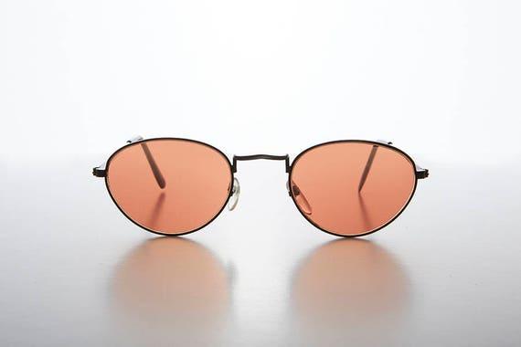74a22a32558 Color Tinted Lens Oval Frame 90s Vintage Sunglass Hope