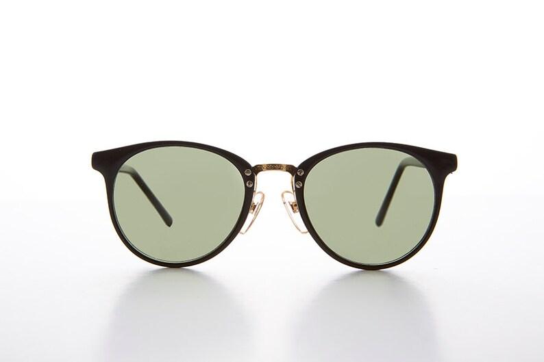 60b1cb52ebc7 Large Round P3 Horn Rim Vintage Sunglasses   Optical Quality