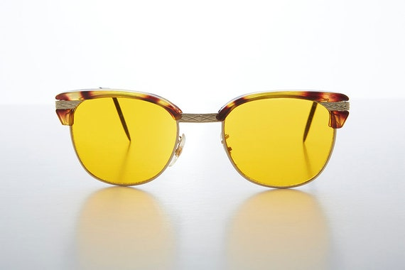 8cce2548a91 Half Frame Tinted Lens Vintage Sunglass with True Blue Blocker