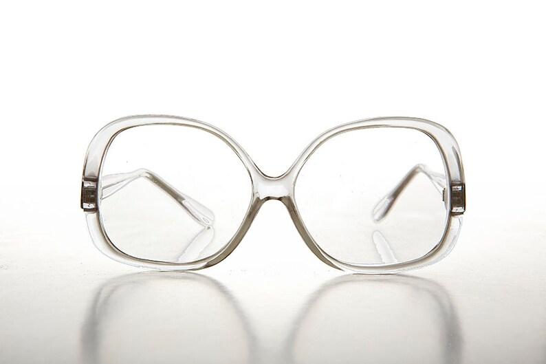 53c1f1c271a Oversized Women s Clear Lens Vintage Eyeglasses