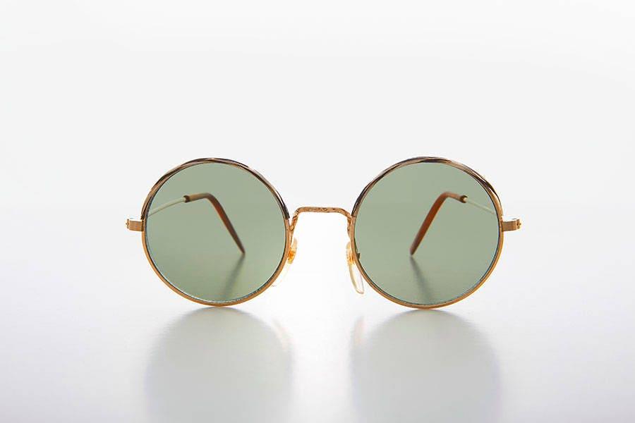 boho hippie ronde or lunettes de soleil avec unique couleur etsy. Black Bedroom Furniture Sets. Home Design Ideas