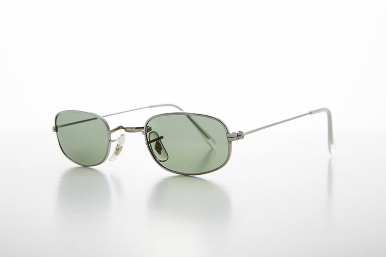 Glass Sunglass Skinny Hippie Rectangular Lens Declan Frame 90s Small 53RLAj4