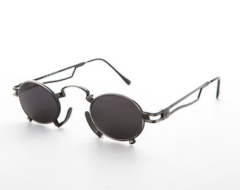 Super Rare Vintage Steampunk Sunglasses with Metal Nose Piece - Jules