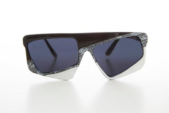 80s Asymmetrical Crazy Vintage New Wave Sunglass -