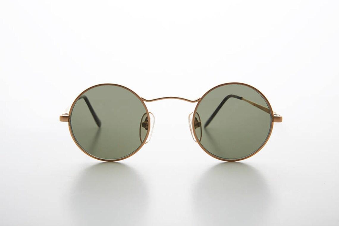Round Wire Rim John Lennon Vintage Sunglasses / Hippy / Optical Quality Frame - Vox 2