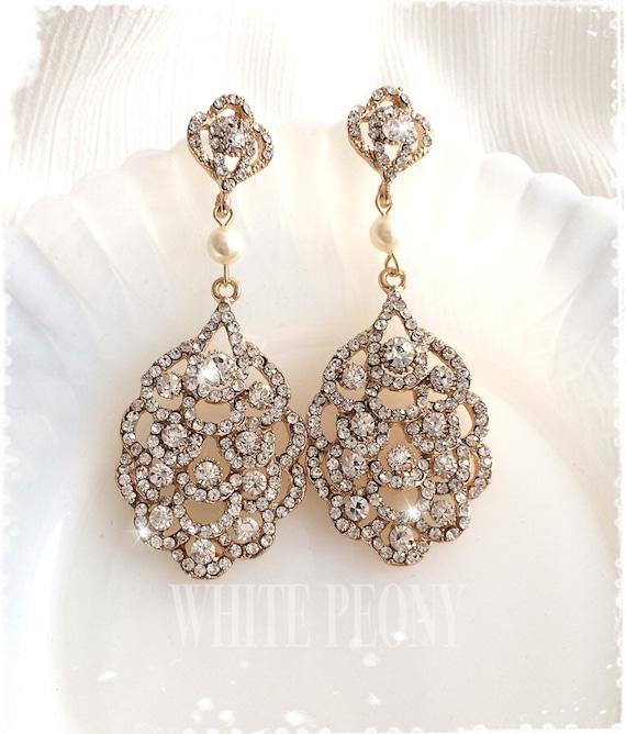 Gatsby Une Décoration De Mariage Inspirée Des Années: Années 1920 Art Déco Gatsby Inspiré Bridal Cristal Or