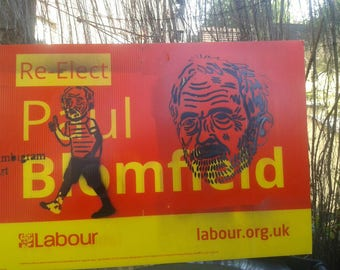Labour Jeremy corbyn graffiti election board spray paint political campaign painting jez we can