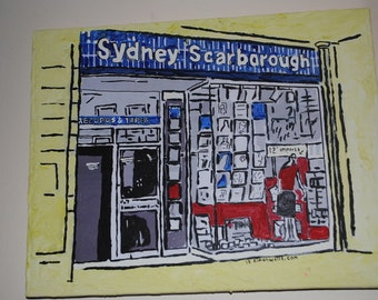 Hull art: An original acrylic painting of an iconic Building (e.g. Boothferry Park, Bob Carvers, Sydney Scarborough spiders painted to order