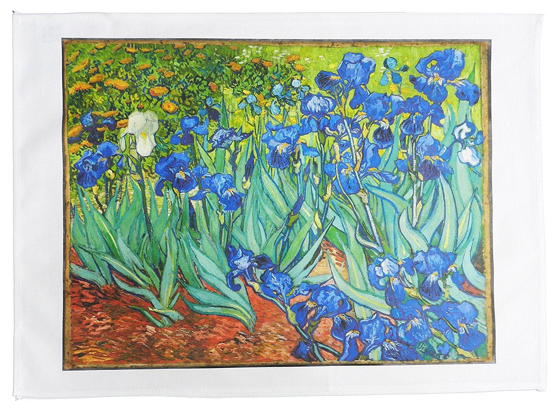 Half a Donkey Irises Vincent Van Gogh Large Cotton Tea Towel