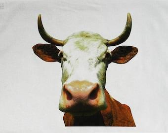 The Cows Head - Large Cotton Tea Towel