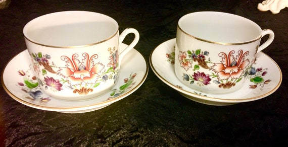 Richard Ginori Sito Ufficiale.Richard Ginori Ischia Floral Pattern L3 Italy Bone China Cup And Saucer Sets Of Two Italy Finest In China Since 1735