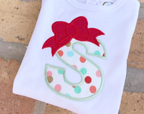 Applique Personalized Bow Shirt