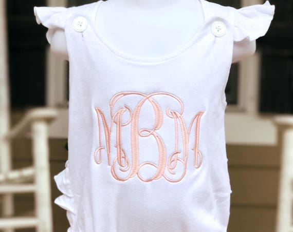 Ruffled Back Monogrammed Bubble