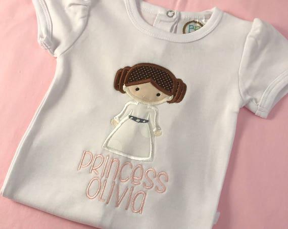 Princess Leia Applique Shirt
