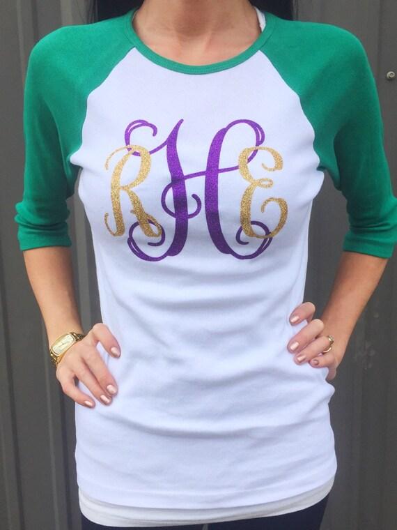 Raglan Mardi Gras - Large Monogram Shirt