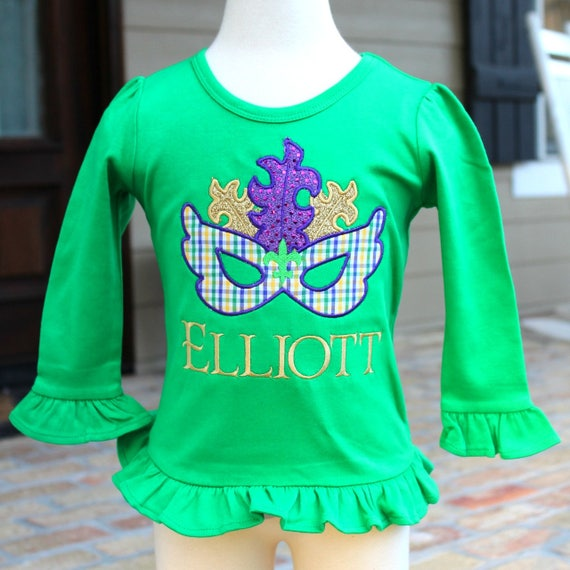 Mardi Gras Mask Ruffled Shirt