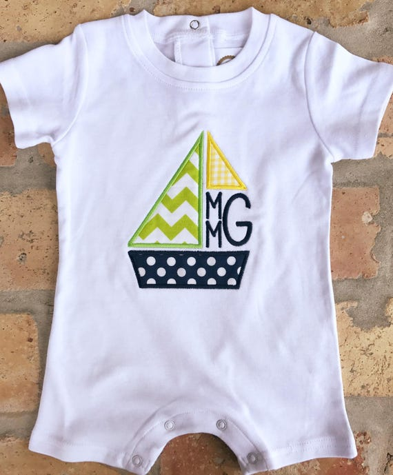 Monogram Sailboat Romper