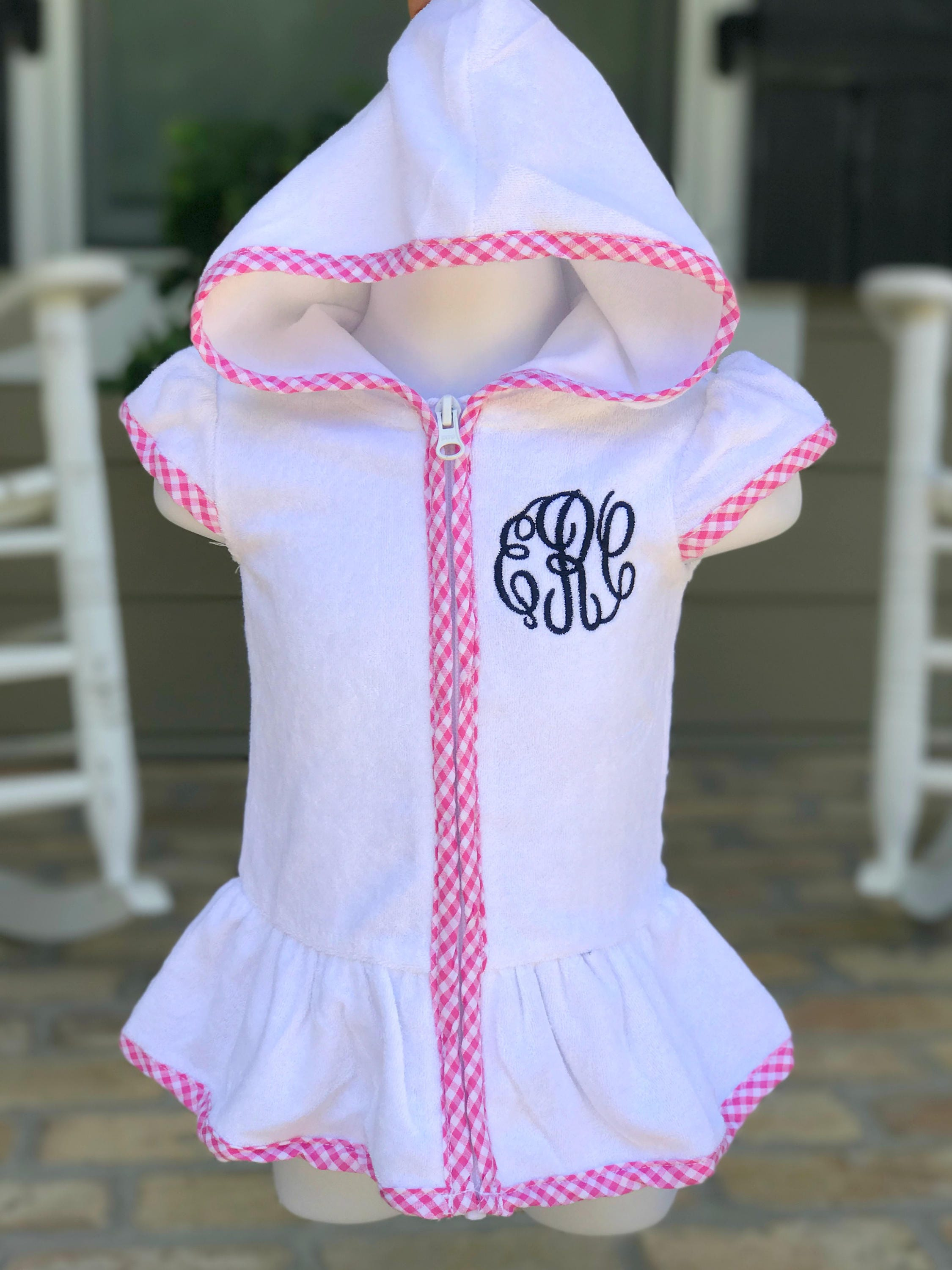 04d8ea63c79e4 Girls Monogrammed Terry Cloth Cover Up