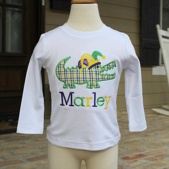 Boys Mardi Gras Shirt - Alligator