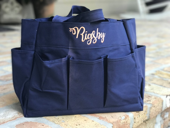 Monogrammed Carry All Utility Tote - 4 Color Options