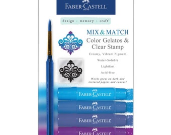 Mix and Match Blue Gelatos and clear stamp