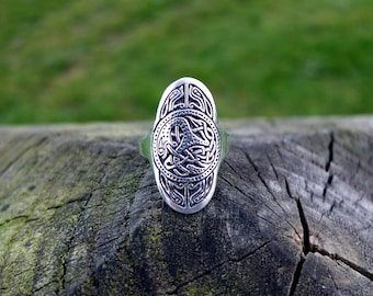 Anglo-Saxon, river Thames silver ring