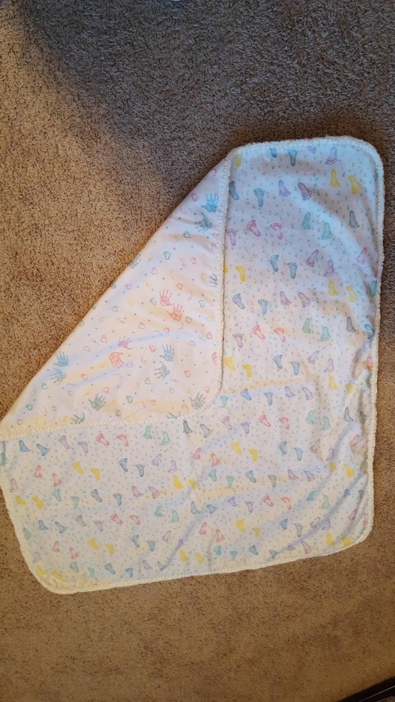 Baby Receiving Blanket and 2 Burp Cloths