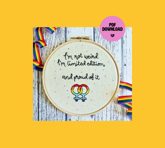 Limited Edition Pride Embroidery PDF Download - Stitch It Yourself
