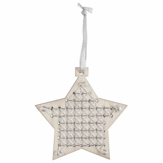 Trimits Wooden Star Cross Stitch Kit