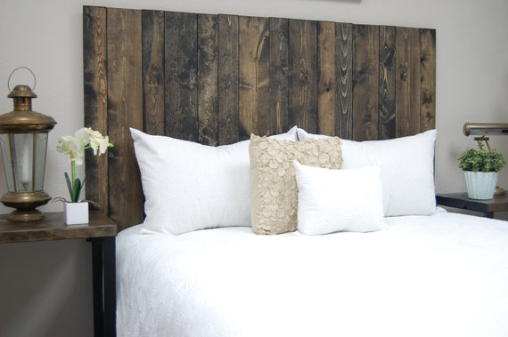 Farmhouse Mix Headboard Mounts on Wall. Hanger Style Handcrafted