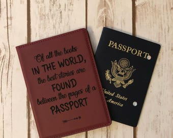 Passport holder, personalized passport holder, custom oassport holder, passport cover