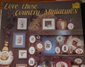 Love Those Country Miniatures, Dale Burdett, Pattern Leaflet, 1983