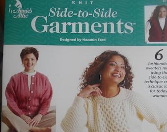 Knit Side to Side Garments, Annie's Attic, Pattern Leaflet #873294, 2003