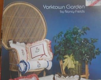Yorktown Garden, Needles & Co, Pattern Leaflet #1, 1984