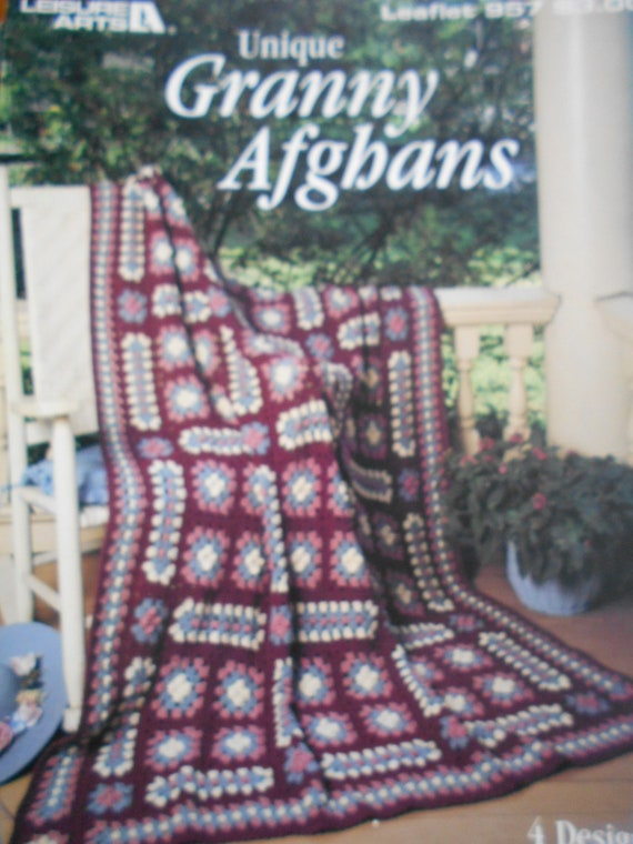 Crocheted Scraps to Beauty AfghansLeisure Arts 163