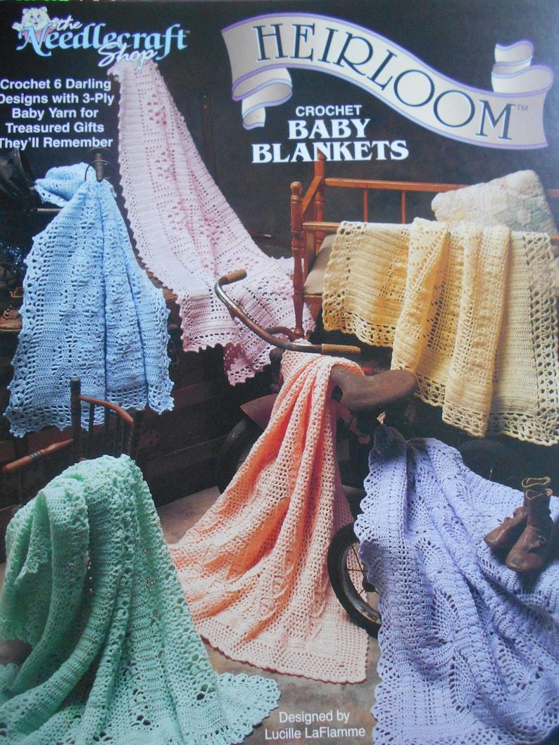 Needlecraft Shop Heirloom Baby Blankets 1994 Pattern Leaflet #941807
