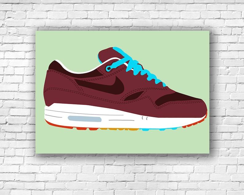 "Nike Air Max 1 ""Patta x Parra Cherrywood"" Illustration Print"