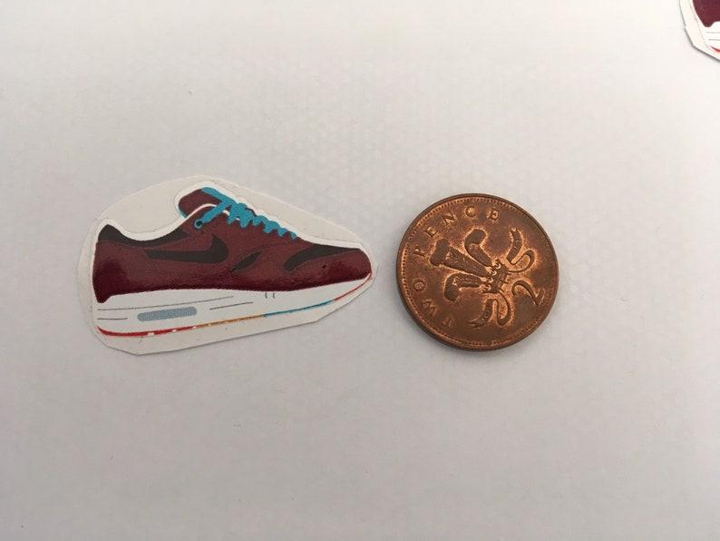 152ca7a754f Set of 4 Nike Air Max 1 Patta x Parra Cherrywood Stickers