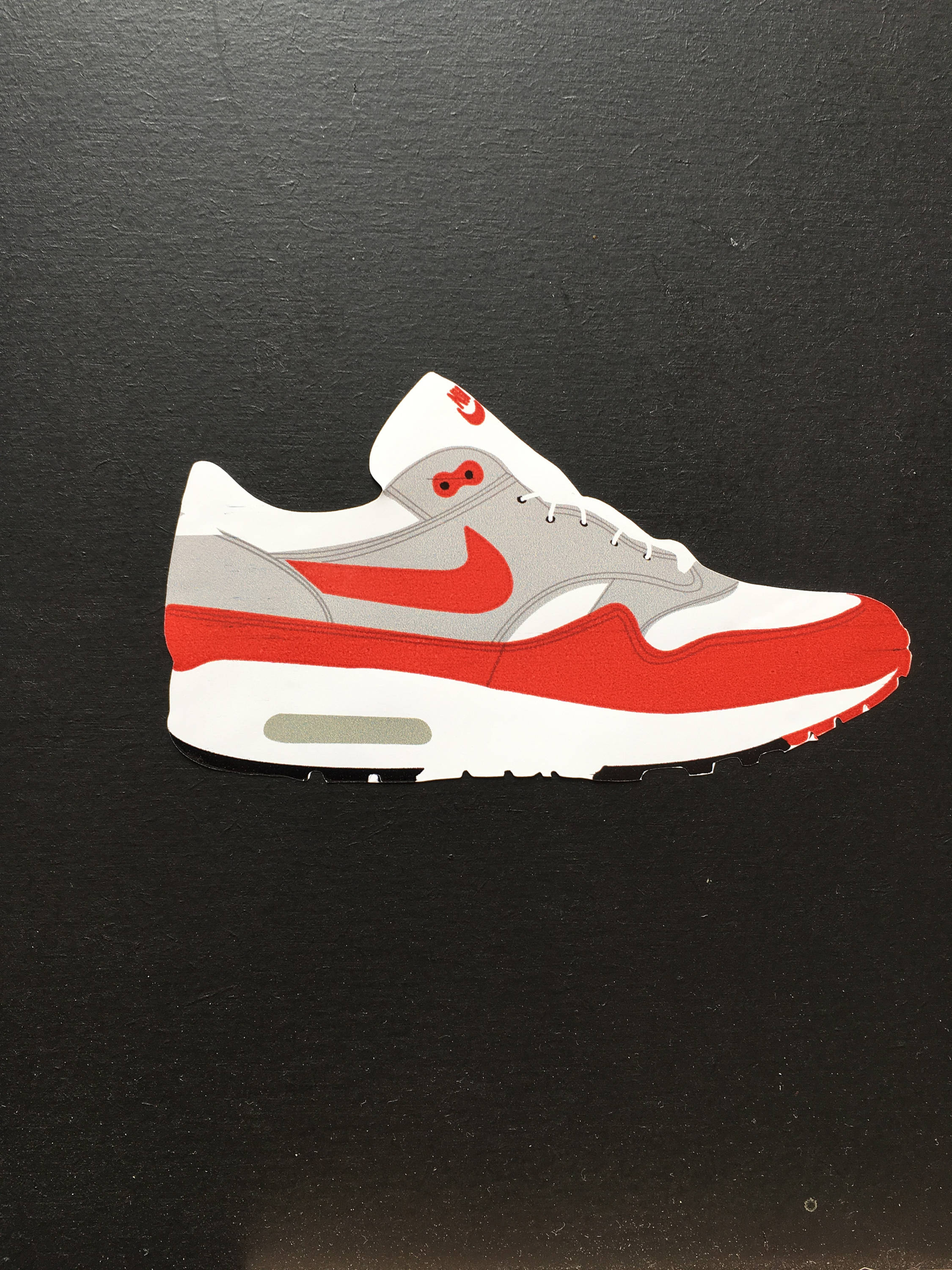 new arrival 93596 148f4 Nike Air Max 1 Red OG Sticker   Etsy