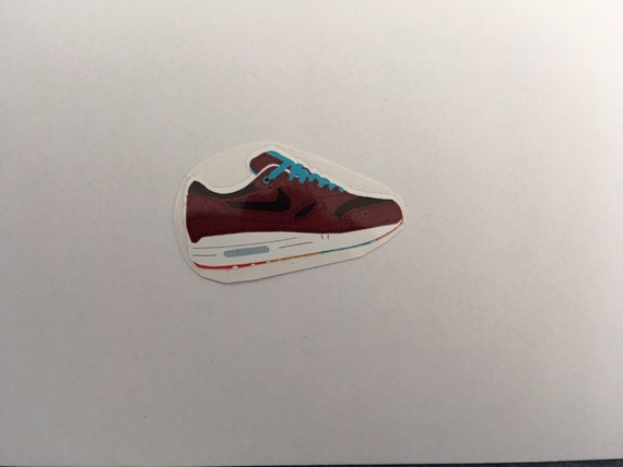 "Set of 4 Nike Air Max 1 ""Patta x Parra Cherrywood"" Stickers"