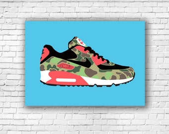 "Nike Air Max 90 ""Duck Hunter Camo"" Illustration Print"