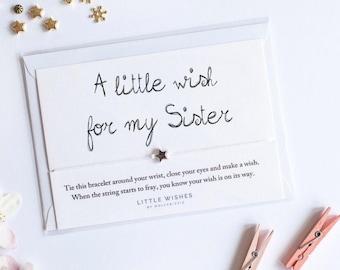Wish Bracelet Gift For Sister
