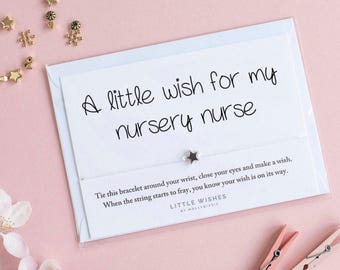Nursery Nurse Gift Leaving Thank You For Assistant Wish Bracelet Pre School