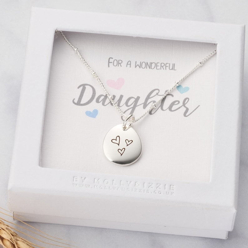 Personalised Pebble Necklace For Daughter