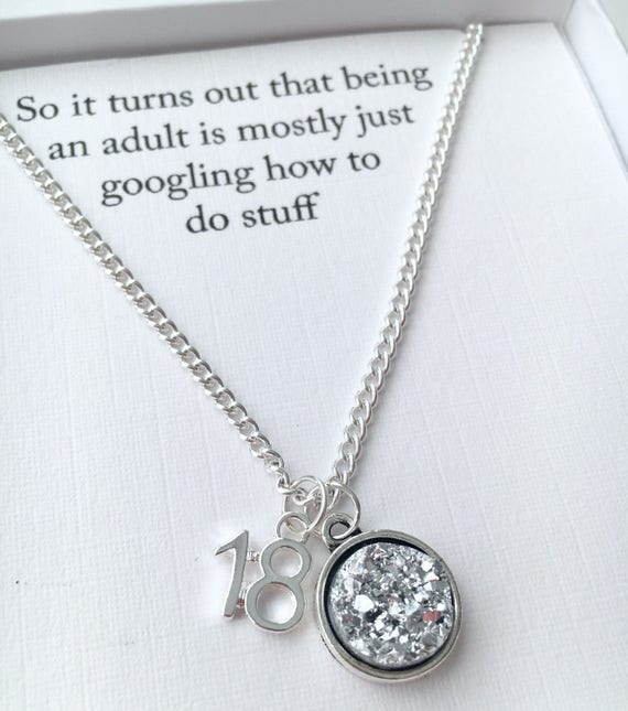 Funny 18th Birthday Necklace
