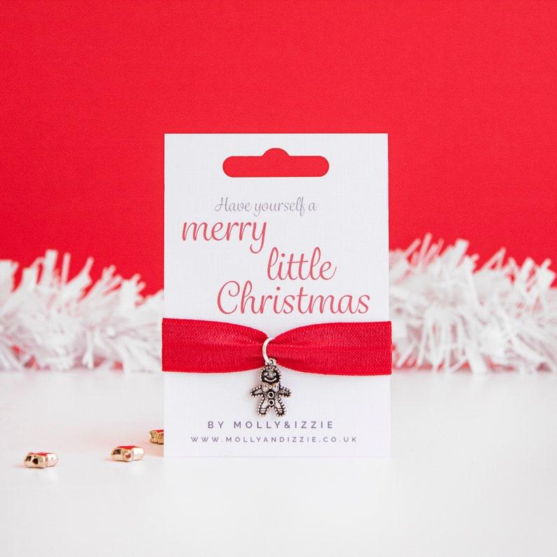 Girls Christmas Gift Girls Gingerbread Man Stretch Bracelet