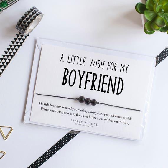 Best Boyfriend Wish Bracelet Gift For Boyfriend Birthday Christmas Gift For Boyfriend Greeting Cards Paper Love Cards Paper Party Supplies