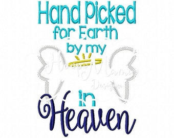 Hand Picked For Earth TEMPLATE In Heaven Machine Embroidery Design 4x4 and 5x7