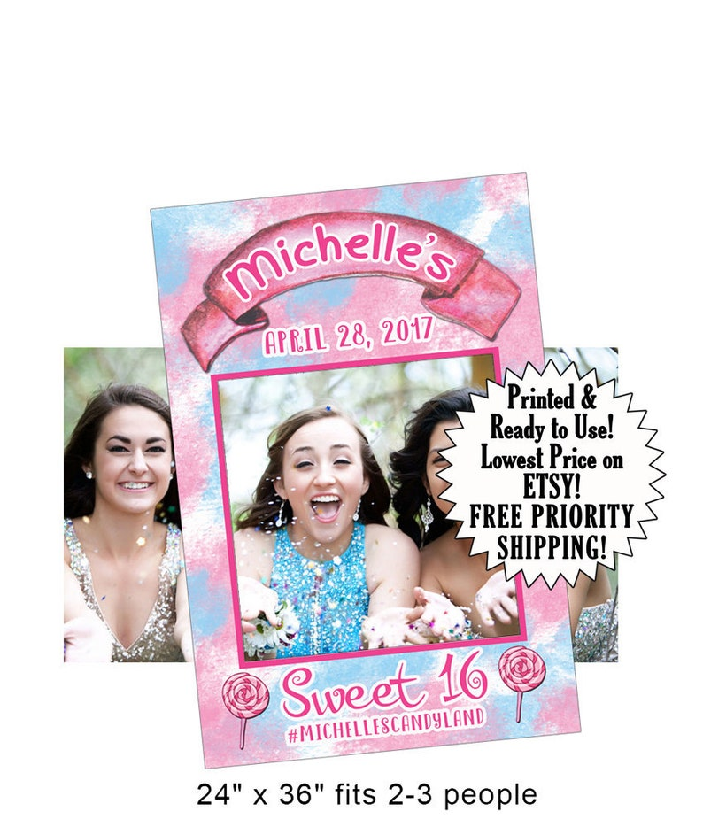 Sweet Sixteen Photo Prop Frame 16 Party